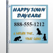 True Happy Care 182 Pole Banner