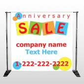 Square Circle Sale 15 Pocket Banner Stand