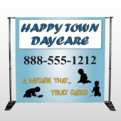 True Happy Care 182 Pocket Banner Stand