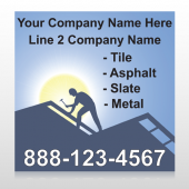Roofing 258 Custom Sign