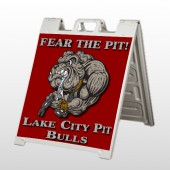 Fear Dog Mascot 51 A Frame Sign