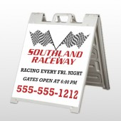 Racetrack 31 A Frame Sign