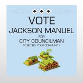 Vote Community 266 Custom Sign
