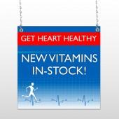Heart Healthy 140 Window Sign