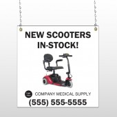 New Scooter 100 Window Sign