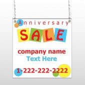 Square Circle Sale 15 Window Sign