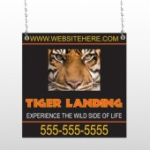 Tiger Landing 303 Window Sign