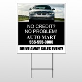 Auto Mart 114 Wire Frame Sign