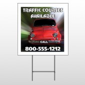 Car Traffic 153 Wire Frame Sign