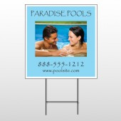 Paradise Pool 529 Wire Frame Sign