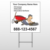 Paving 262 Wire Frame Sign