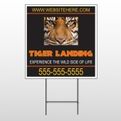 Tiger Landing 303 Wire Frame Sign
