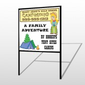 Campground 144 H-Frame Sign