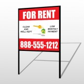 Rent Key Chain 361 H-Frame Sign