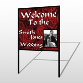 Rose Couple 04 H-Frame Sign