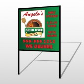 Pizza 129 H Frame Sign