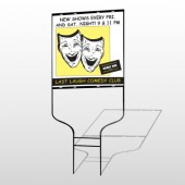 Comedy Mask 516 Round Rod Sign