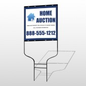 Blue House Auction 253 Round Rod Sign