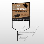 Boarding Stable 304 Round Rod Sign