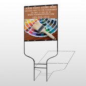Paint Brushes 256 Round Rod Sign