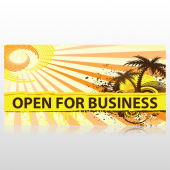 Summer Scene Open For Business Banner