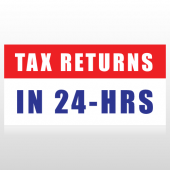 Tax Refunds in 24 Hours Banner