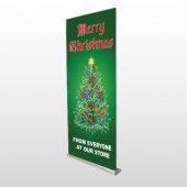 Merry Christmas 29 Retractable Banner Stand