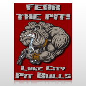 Fear Dog Mascot 51 Custom Decal