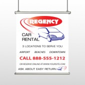 Rental Car 39 Hanging Banner
