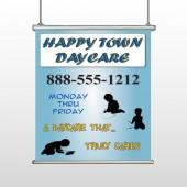 True Happy Care 182 Hanging Banner
