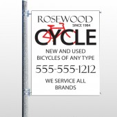 Bike Shop 33 Pole Banner