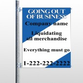 Going Out Sale 11 Pole Banner