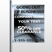 Gray Going Out of Business Sale 12 Pole Banner
