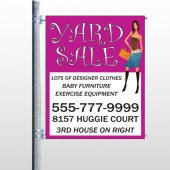 Pink Girl Sale 552 Pole Banner