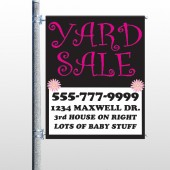 Pink Yard Sale 550 Pole Banner