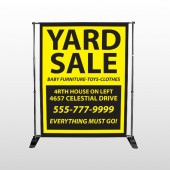 Yellow Black 551 Pocket Banner Stand