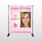 Happy Birthday Marley 10 Pocket Banner Stand