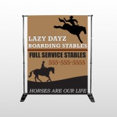 Boarding Stables 304 Pocket Banner Stand