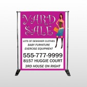 Pink Girl Sale 552 Pocket Banner Stand