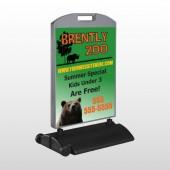 Bear Zoo 302 Wind Frame Sign