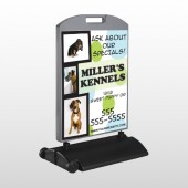 Dog Kennels 300 Wind Frame Sign