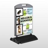 Dog Kennels 300 Wind Frame Sign