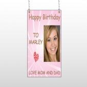 Happy B-Day Marley 10 Window Sign
