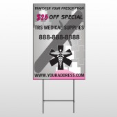 Caduce Us Medical 503 Wire Frame Sign