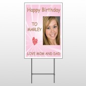 Happy B-Day Marley 10 Wire Frame Sign