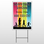 Happy Town 181 Wire Frame Sign