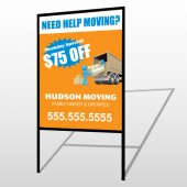 Blue Moving 294 H Frame Sign
