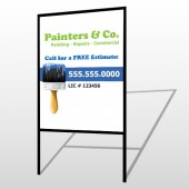 Blue Paint Brush 305 H-Frame Sign