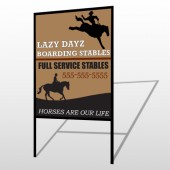 Boarding Stable 304 H Frame Sign