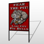 Fear Dog Mascot 51 H-Frame Sign